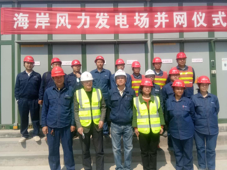 热烈祝贺我公司承建的新希望濮阳县海岸分散式风电项目正式并网发电