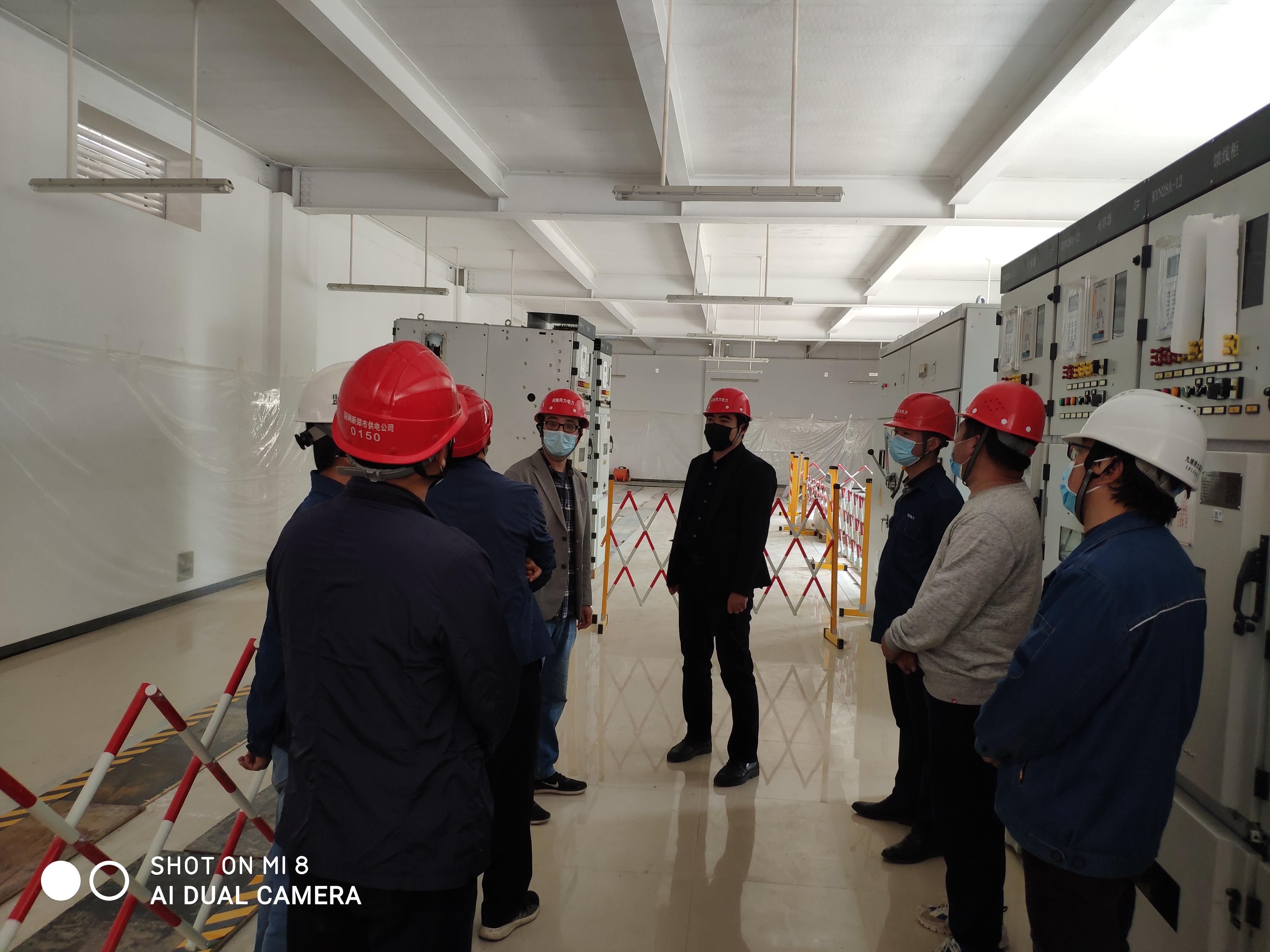 郑州市供电公司领导莅临新郑枣林110千伏变电站电气安装工程项目部检查指导工作